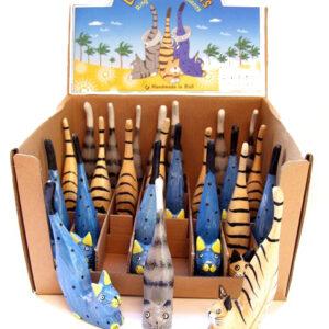 Kat ringhouder hout 11 cm