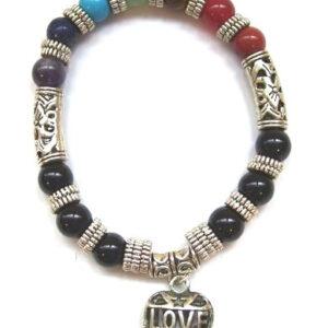 Chakra armband Love